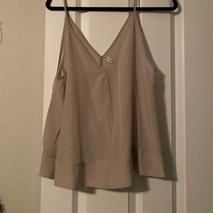 FREE PEOPLE NEVER WORN TAUPE SILK CAMISOLE